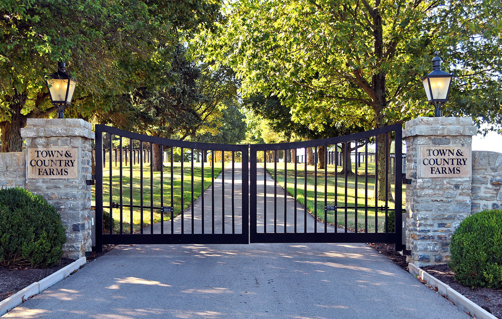 The front gates of Town and Country Farms.