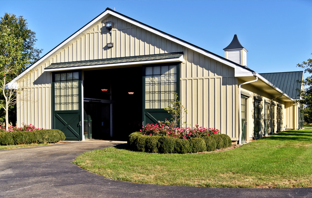 The main mare barn in Town and Country Farms.